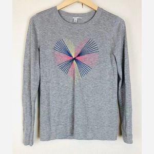 Halegon embroidered heart pullover sweater top